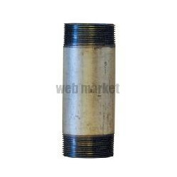 MAMELON 530 TUBE SOUDÉ FILETAGE CONIQUE LONGUEUR 60MM GALVA D12X17 RÉF 530012060G