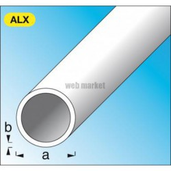 TUBE ROND 6X1MM ALU ARGENT 1M