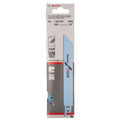 LAME DE SCIE SABRE S 922 AF FLEXIBLE FOR METAL RÉF. 2608656013