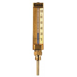 THERMO. PL.63MM MOD.DRT EURO57 BOITIER 150X36 0/200°C