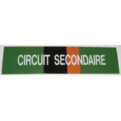 ETIQUETTE CIRCUIT SECONDAIRE 200X50X10MM RÉF 215508