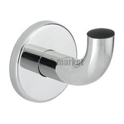PATÈRE INOX TUBE D 20, D 62 X 65, FIXATION INVISIBLES, FINITION INOX POLI BRILLANT RÉF. 4043P