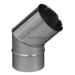 COUDE SECT. 45D INOX 304 200