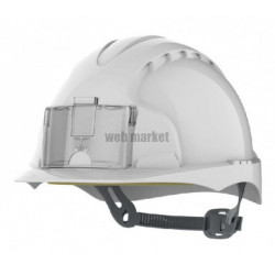 CASQUE EVO2 PORTE BADGE BLANC